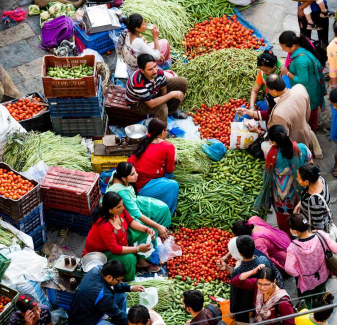 Nepal local market
